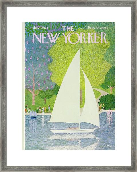New Yorker July 1st 1974 Framed Print by Charles Martin