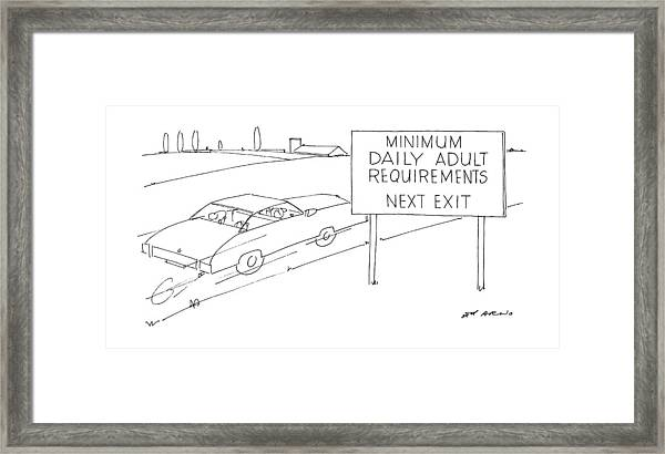 New Yorker July 21st, 1986 Framed Print by Ed Arno