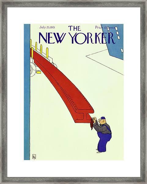 New Yorker July 25 1931 Framed Print