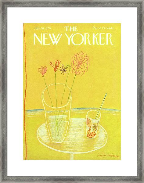 New Yorker July 26th, 1976 Framed Print