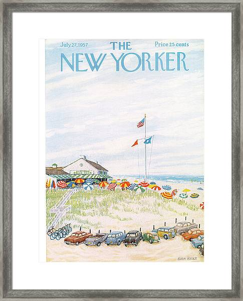 New Yorker July 27th, 1957 Framed Print