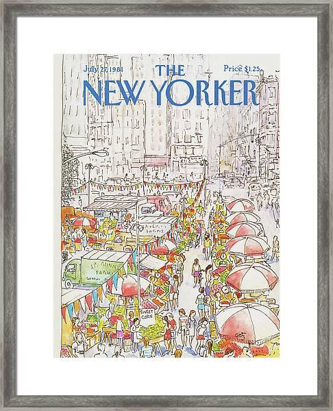 New Yorker July 27th, 1981 Framed Print