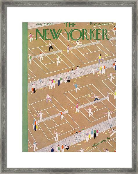 New Yorker July 28th, 1934 Framed Print