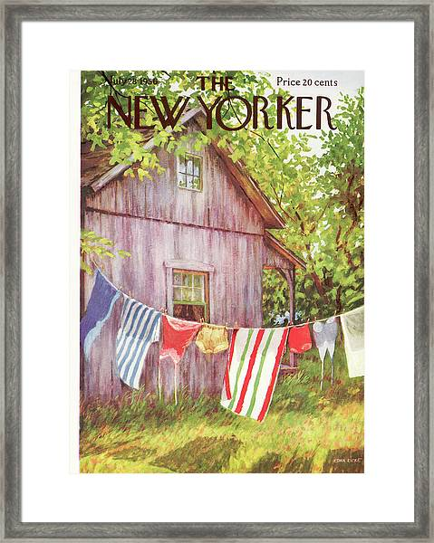 New Yorker July 28th, 1956 Framed Print