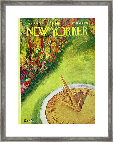 New Yorker July 29th 1967 Framed Print by Beatrice Szanton