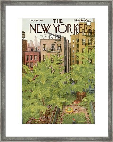 New Yorker July 31st, 1954 Framed Print