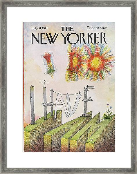 New Yorker July 31st, 1971 Framed Print
