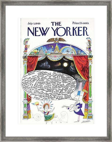 New Yorker July 3rd, 1965 Framed Print