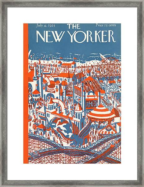 New Yorker July 4th, 1925 Framed Print