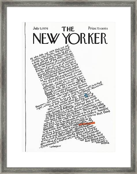 New Yorker July 5th, 1976 Framed Print