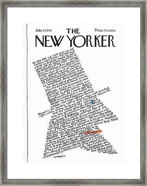 New Yorker July 5th, 1976 Framed Print