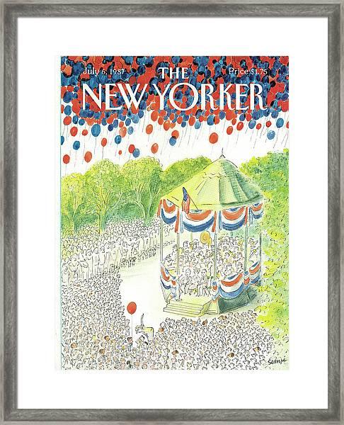 New Yorker July 6th, 1987 Framed Print