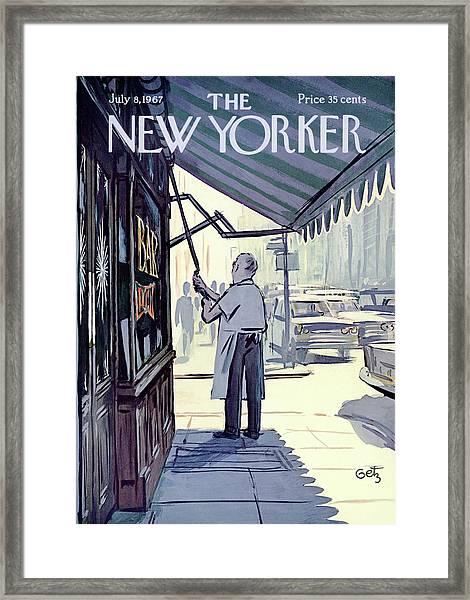 New Yorker July 8th, 1967 Framed Print