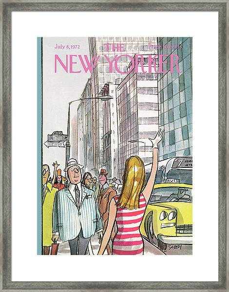 New Yorker July 8th, 1972 Framed Print