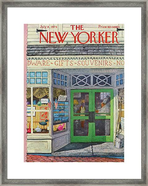 New Yorker July 8th, 1974 Framed Print