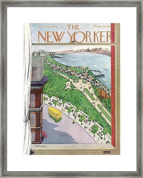 New Yorker June 10th, 1944 Framed Print