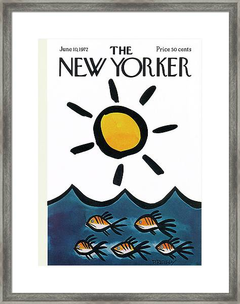 New Yorker June 10th, 1972 Framed Print
