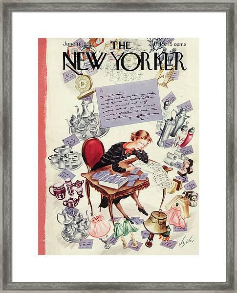 New Yorker June 11th, 1938 Framed Print
