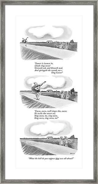 New Yorker June 13th, 1970 Framed Print