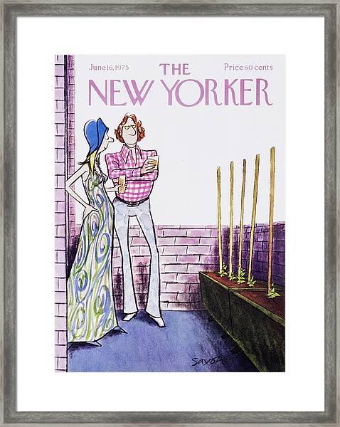 New Yorker June 16th 1975 Framed Print