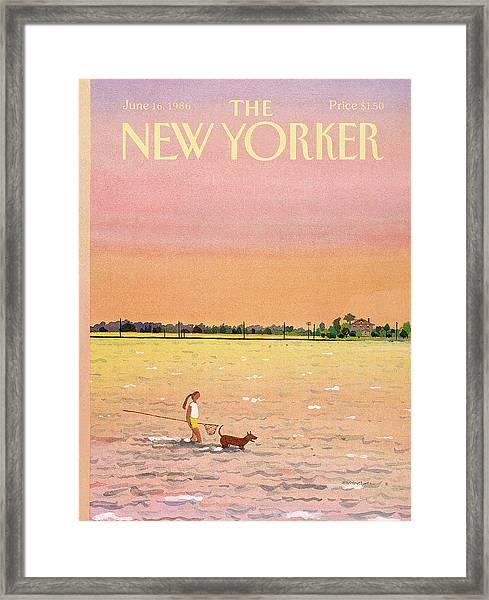 New Yorker June 16th, 1986 Framed Print