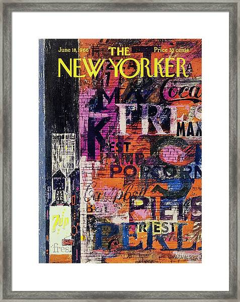 New Yorker June 18th 1966 Framed Print by Kenneth Mahood