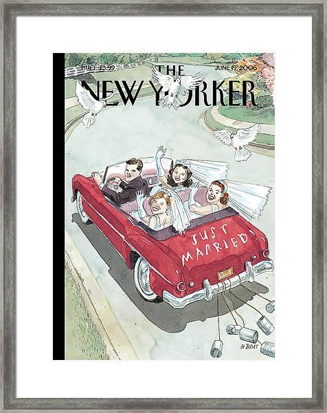 New Yorker June 19th, 2006 Framed Print by Barry Blitt