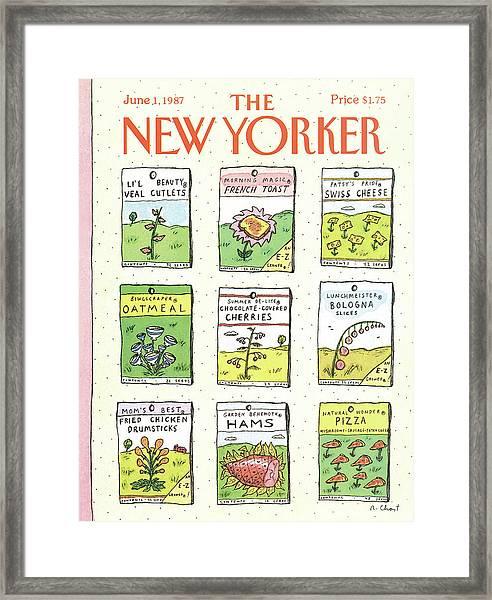 New Yorker June 1st, 1987 Framed Print