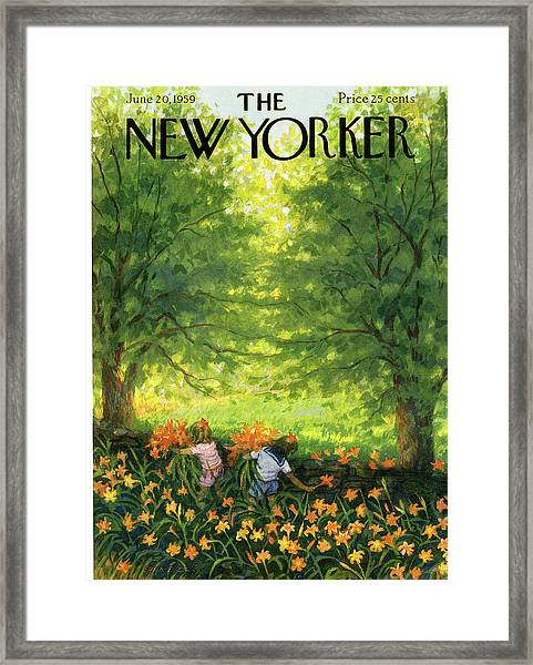 New Yorker June 20th, 1959 Framed Print