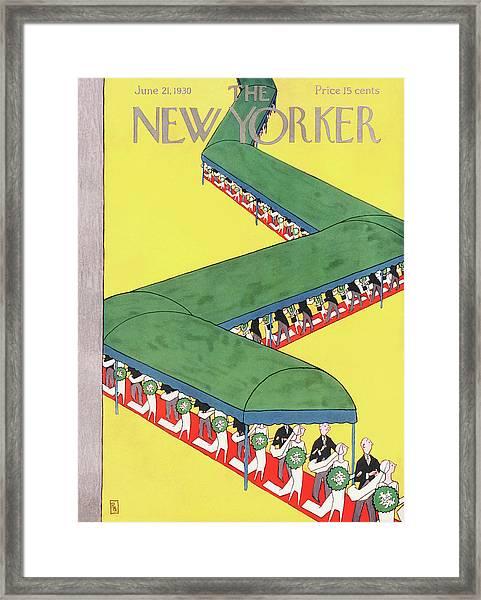 New Yorker June 21st, 1930 Framed Print