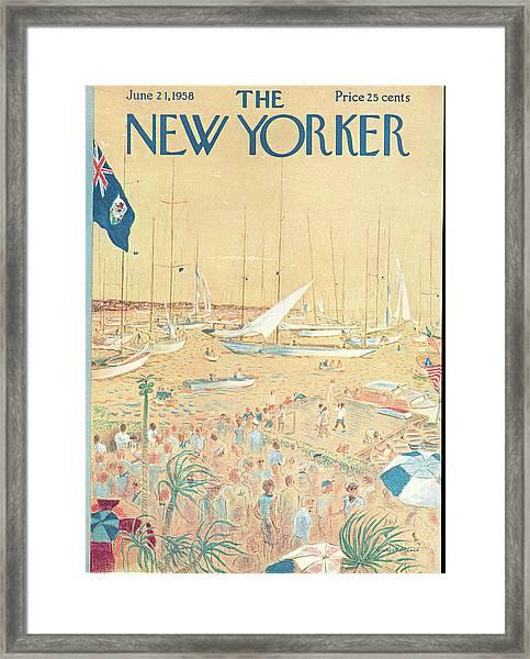 New Yorker June 21st, 1958 Framed Print