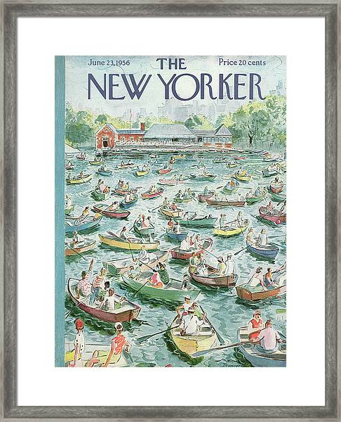 New Yorker June 23rd, 1956 Framed Print