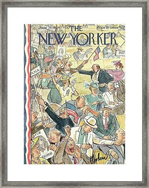 New Yorker June 24th, 1944 Framed Print