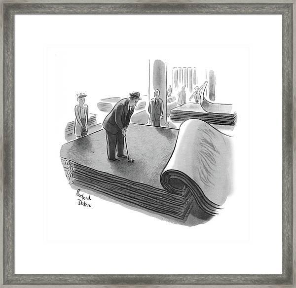 New Yorker June 25th, 1955 Framed Print