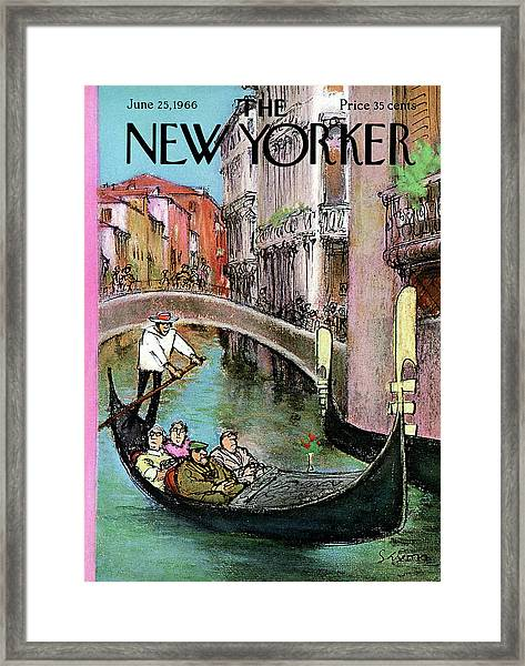 New Yorker June 25th, 1966 Framed Print