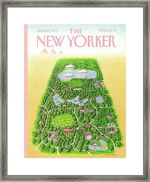 New Yorker June 25th, 1990 Framed Print