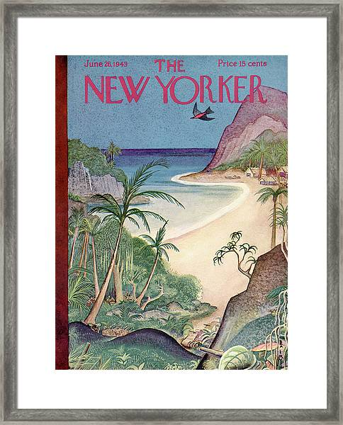 New Yorker June 26th, 1943 Framed Print by Rea Irvin