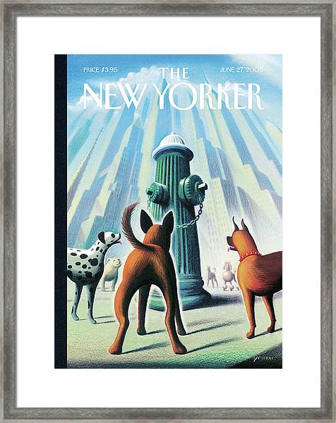 New Yorker June 27th, 2005 Framed Print by Eric Drooker