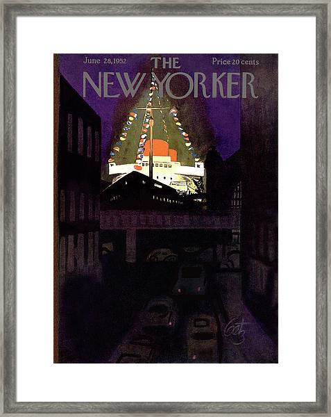 New Yorker June 28th, 1952 Framed Print