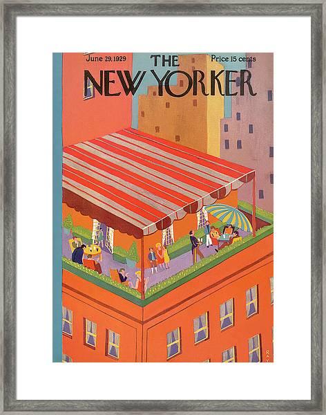 New Yorker June 29th, 1929 Framed Print