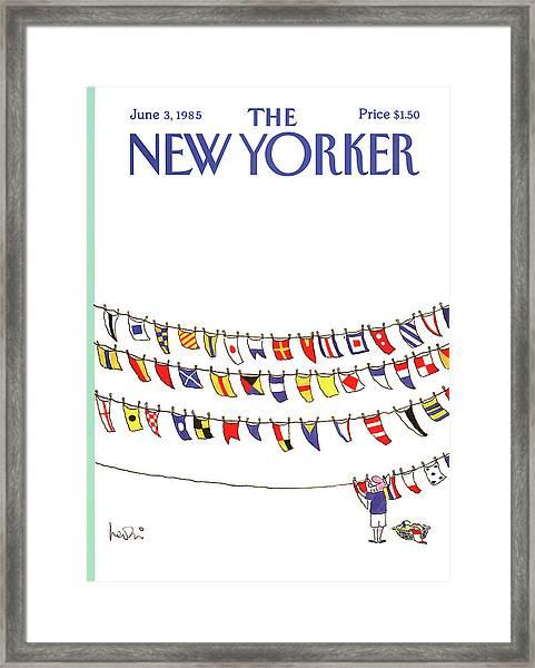 New Yorker June 3rd, 1985 Framed Print