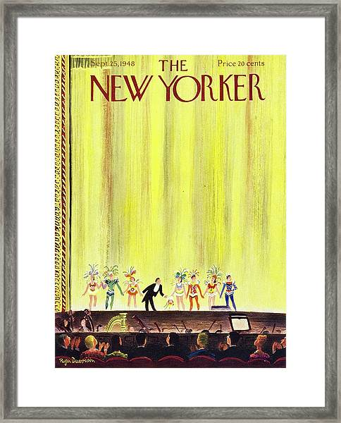 New Yorker Magazine Cover Of A Curtain Call Framed Print