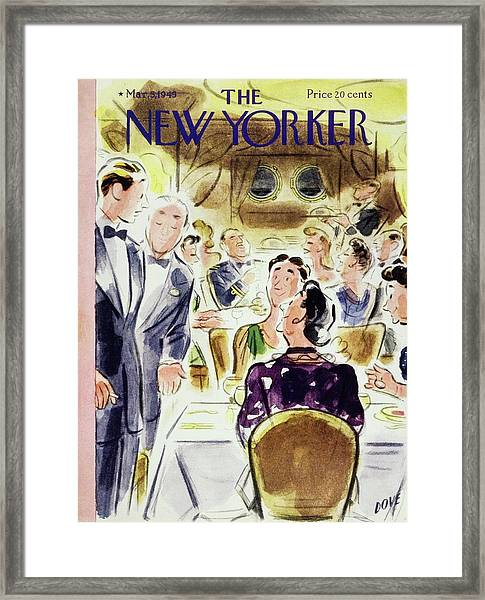 New Yorker Magazine Cover Of People Framed Print