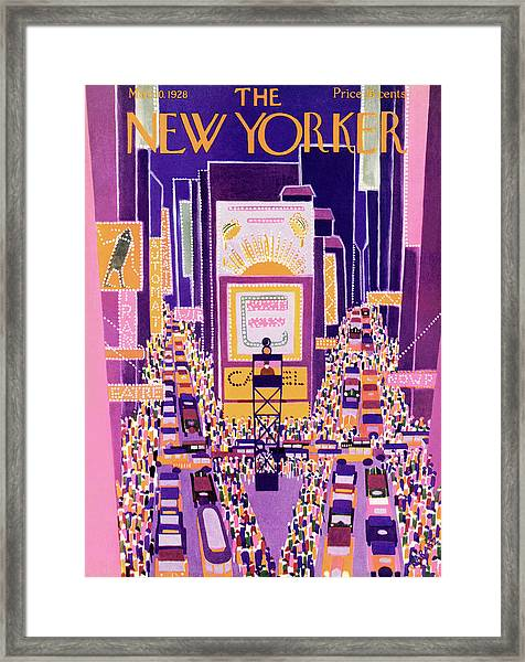 New Yorker March 10th, 1928 Framed Print