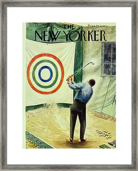 New Yorker March 12th 1960 Framed Print by Constantin Alajalov