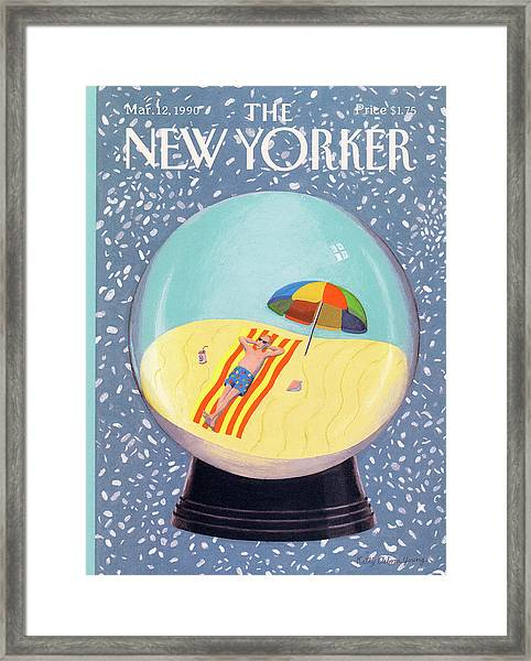 New Yorker March 12th, 1990 Framed Print