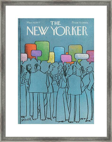 New Yorker March 14th, 1977 Framed Print
