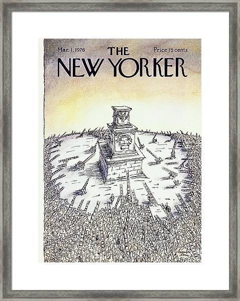 New Yorker March 1st 1976 Framed Print by Niculae Asciu