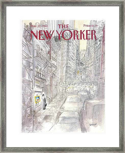 New Yorker March 21st, 1988 Framed Print
