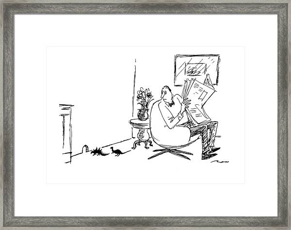 New Yorker March 21st, 1994 Framed Print